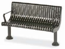 Powder-coated Metal Memorial Bench