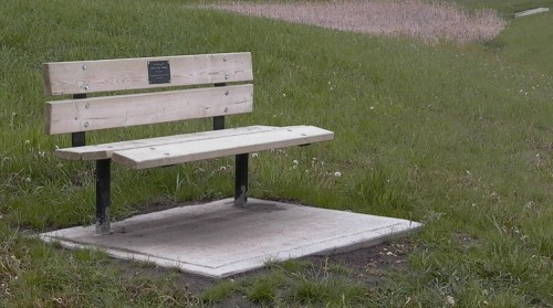Wooden Memorial Bench with Plaque