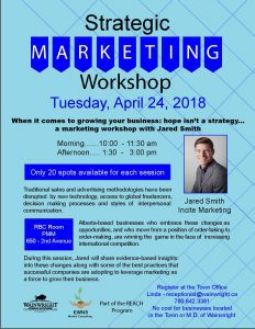 Strategic Marketing Workshop @ RBC Room - Peace Memorial Multiplex | Wainwright | Alberta | Canada