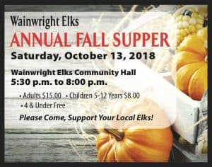 Elks Fall Supper @ Elks Hall | Wainwright | Alberta | Canada