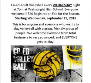 Wainwright Adult Volleyball @ WHA
