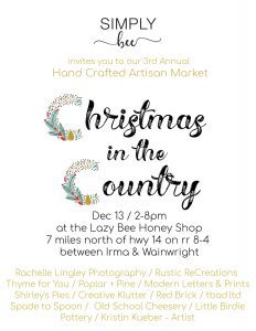 Simply Bee's Christmas in the Country Artisan Market @ Lazy Bee Honey Shop | Alberta | Canada