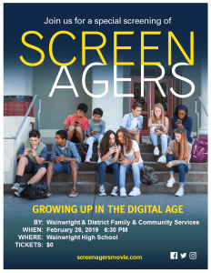 Screenagers-Free Showing @ Wainwright High School | Wainwright | Alberta | Canada