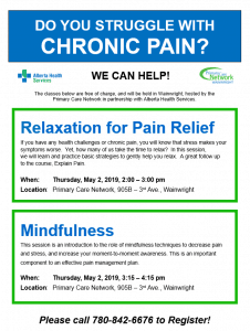 Relaxation for Pain Relief @ Primary Care Network | Wainwright | Alberta | Canada