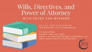 Wills, Directives and Power of Attorney with Peter Van Winssen @ Wainwright FCS Boardroom | Wainwright | Alberta | Canada