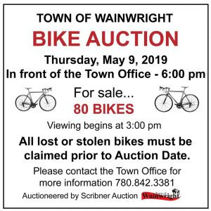 Bike Auction @ In front of Town of Wainwright Office | Wainwright | Alberta | Canada