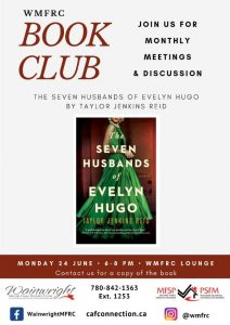 Book Club: The Seven Husbands of Evelyn Hugo @ WMFRC Lounge