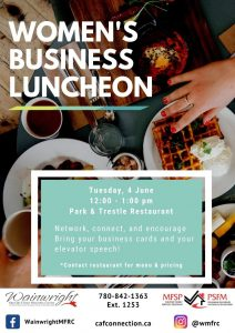Women's Business Luncheon @ Park & Trestle Restaurant | Wainwright | Alberta | Canada