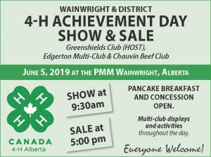 4H Achievement Day Show & Sale @ Peace Memorial Multiplex | Wainwright | Alberta | Canada
