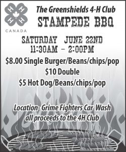 4H Greenshields Club BBQ @ Grime Fighters | Wainwright | Alberta | Canada