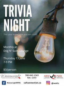 Trivia Night @ Dog n' Suds Lounge | Wainwright | Alberta | Canada