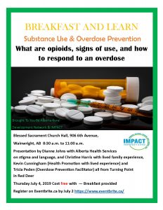 Public Education Event - Substance Use & Overdose Prevention @ Blessed Sacrament Church Hall | Wainwright | Alberta | Canada