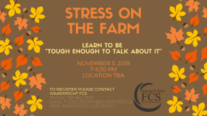 """Stress on the Farm: Learn to be """"Tough Enough To Talk About It"""" @ TBA"""