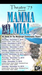 Theatre 75 presents MAMMA MIA!! @ Wainwright Communiplex | Wainwright | Alberta | Canada