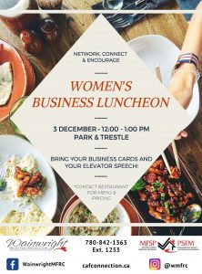 Women's Business Luncheon @ Park & Trestle | Wainwright | Alberta | Canada