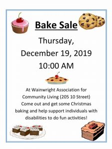 WAFCL Christmas Bake Sale @ Wainwright Association for Community Living | Wainwright | Alberta | Canada