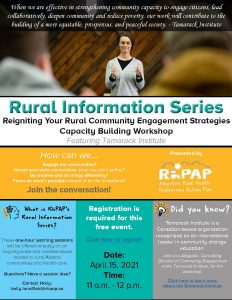 Reigniting Your Rural Community Engagement Strategies Capacity Building Workshop